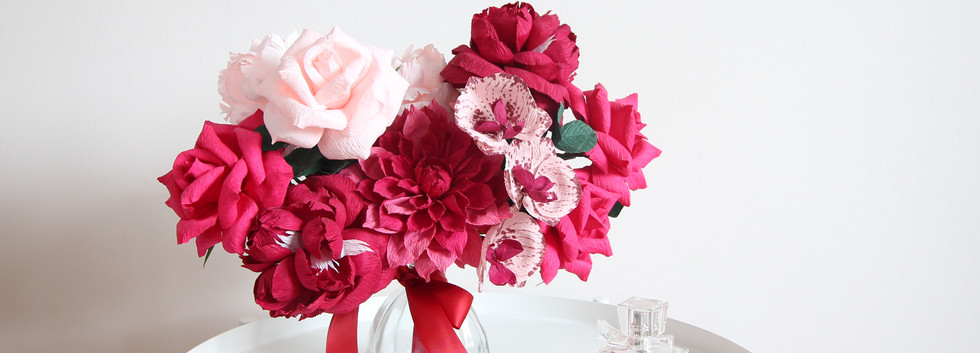 Catherine Crepe Paper Flower Arrangement