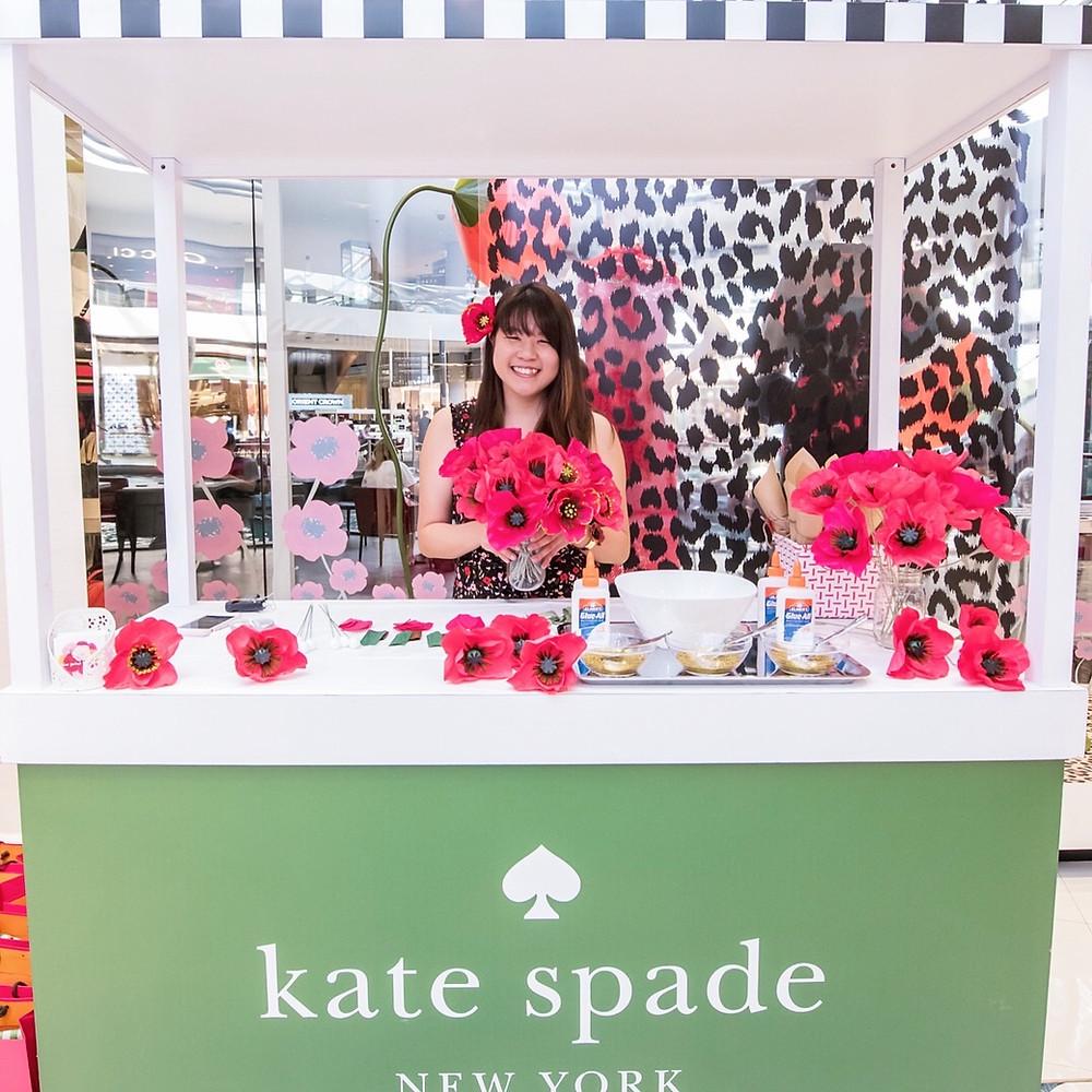 kate spade paper poppies miss petal & bloom