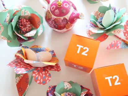DIY Paper Flowers for T2 Tea