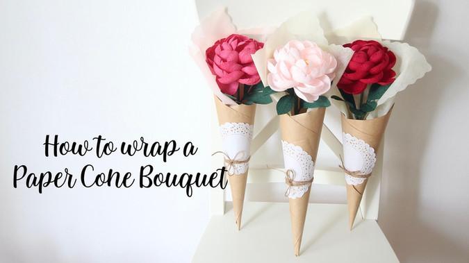 Paper Cone Bouquet