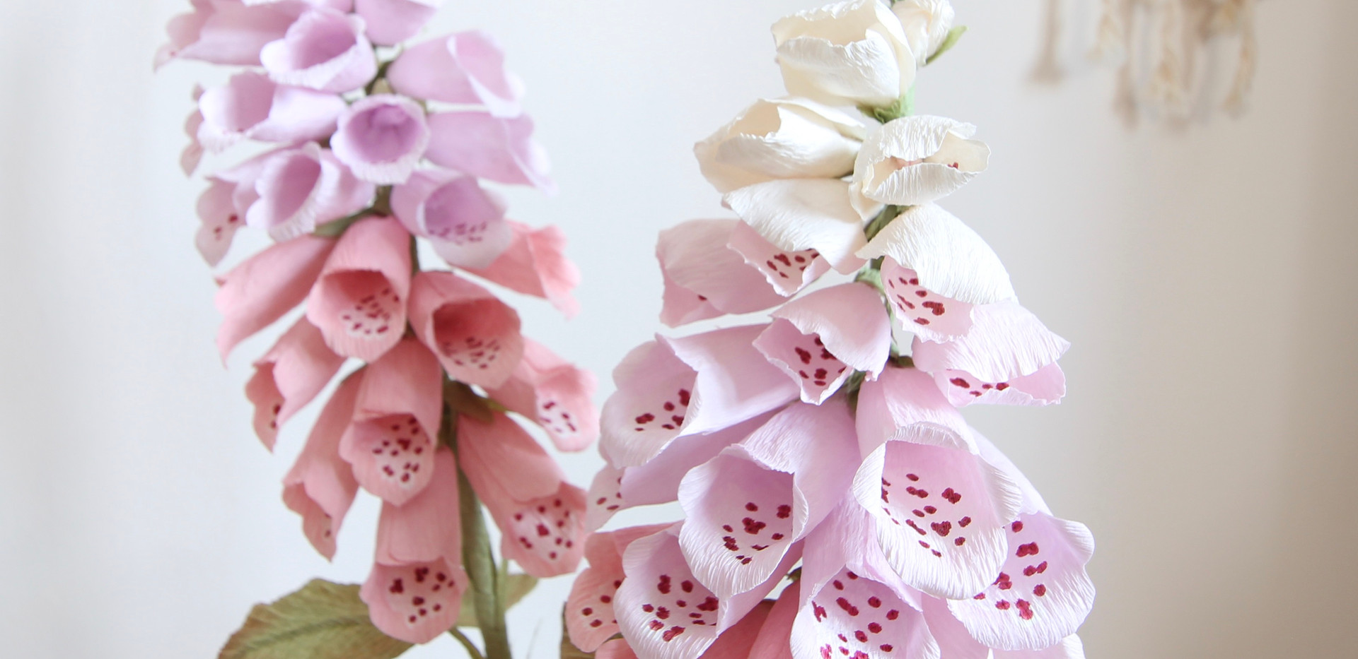 Crepe Paper Foxgloves
