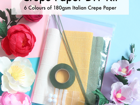 Crepe Paper DIY Kits & great Youtube channels for paper flowers