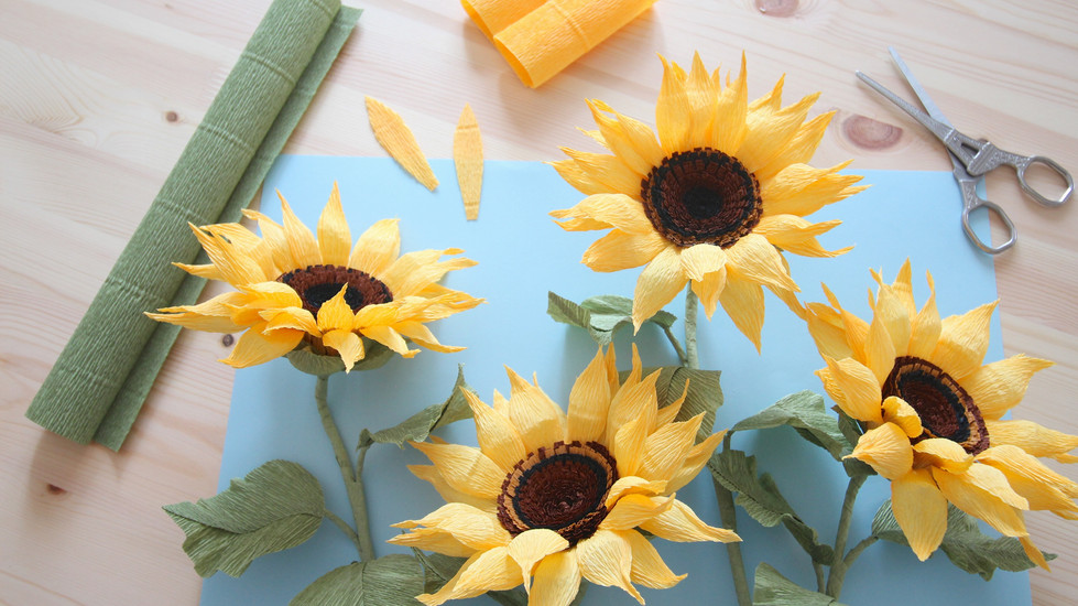 Sunflower Crepe Paper