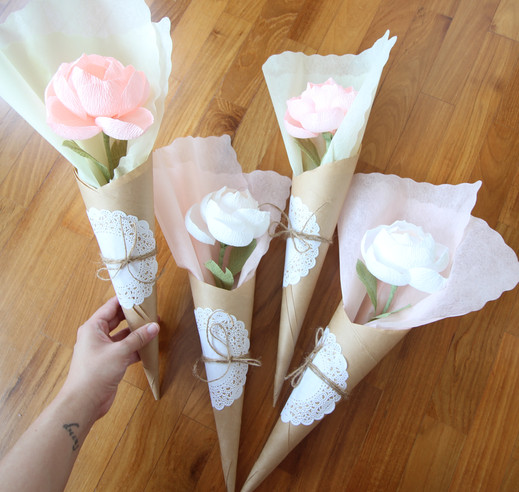 Kraft Paper Cone Wrapping