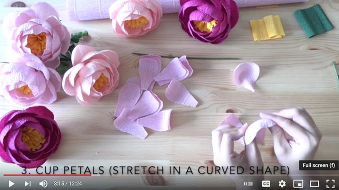 Simple Crepe Paper Peonies