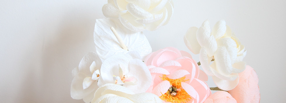 Georgiana Crepe Paper Flower Arrangement
