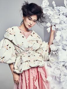 Harper's Bazaar Moncler Paper Flowers