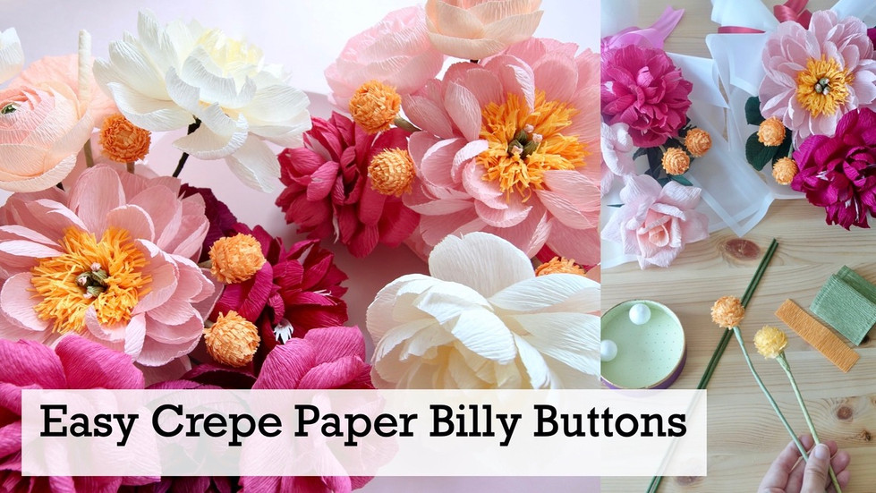 Crepe Paper Billy Buttons