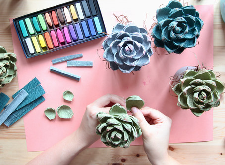 New Crepe Paper Workshops - September Succulent and October Wall Rose