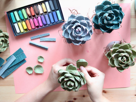 New Crepe Paper Workshops - September Succulent and October Wall Rose