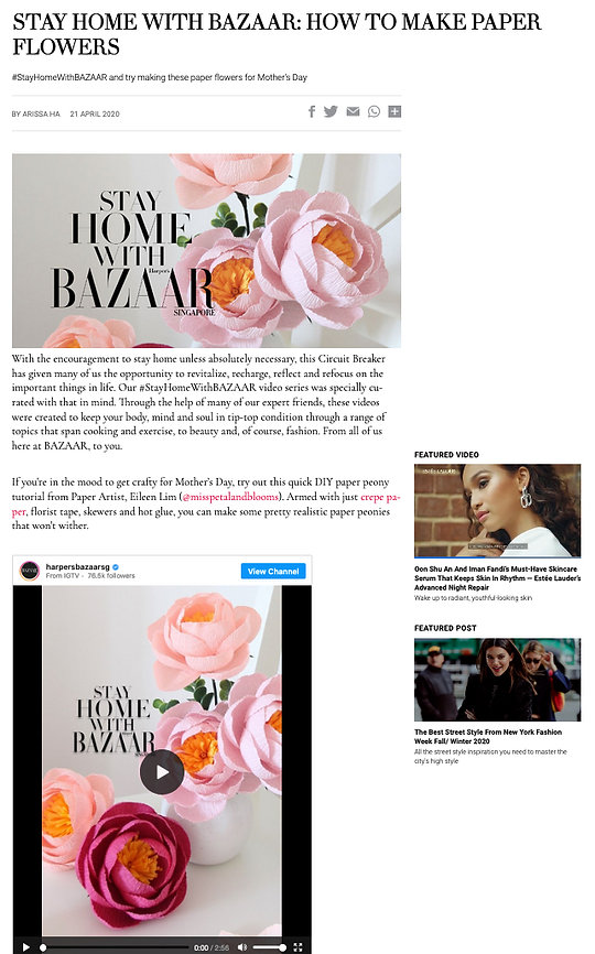 Stay Home With BAZAAR: How To Make Paper