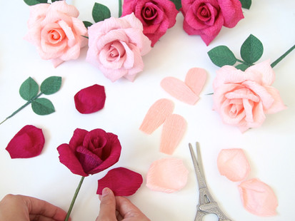 #Stayhome Crepe Paper Flower Resources
