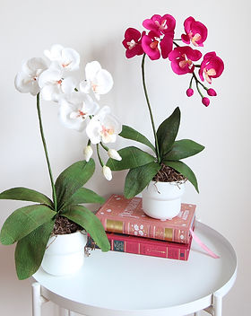 Handmade crepe paper orchid