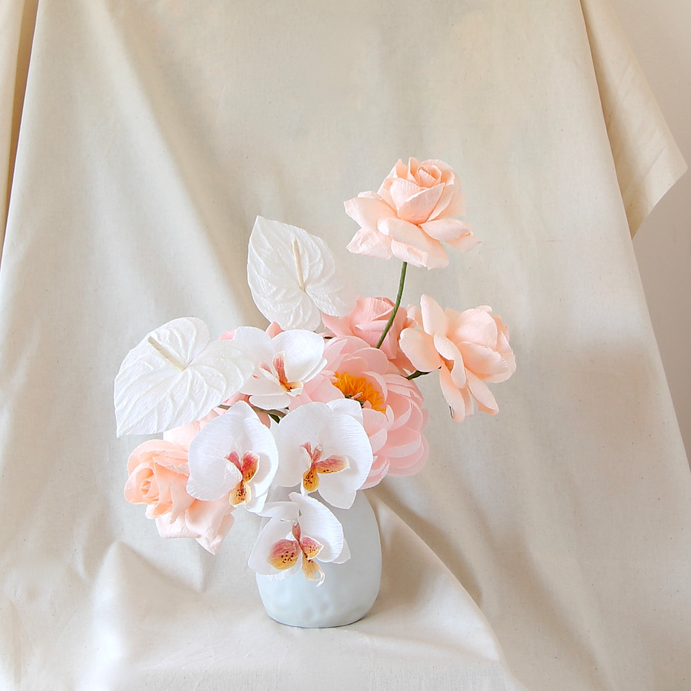 Singapore Mothers Day Crepe Paper Flowers Eliza Handmade Bouquet