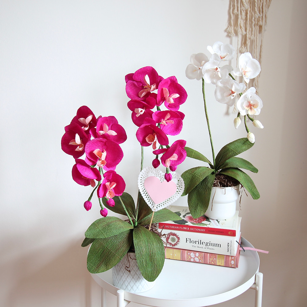 Chinese New Year Crepe Paper Orchids