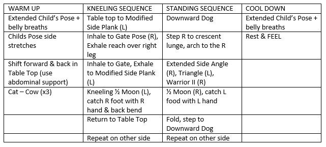 Counter-Posing My Day: A Core-stabilization & Side-bending Sequence