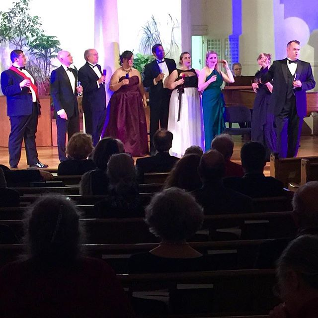 Our wonderful cast entertains the crowd with DIE FLEDERMAUS at our New Year's Eve Gala! #operaithaca