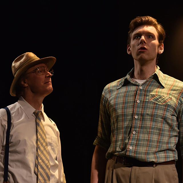 Baritone, Garrett Obrycki, as Bill and bass baritone David Neal as Grandpa Eldridge in the world pre