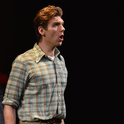 Baritone, Garrett Obrycki, as Bill in the world premiere of Bonnie Montgomery and Britt Barber's BIL
