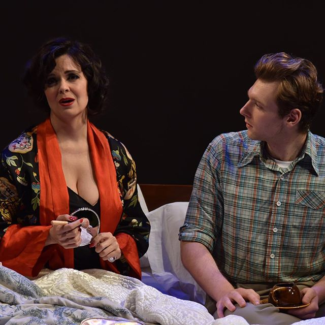 Baritone, Garrett Obrycki, as Bill and mezzo Dawn Pierce as Virginia in the world premiere of Bonnie