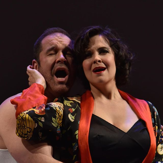 Baritone, Erik Angerhofer and mezzo Dawn Pierce as Roger and Virginia Clinton in the world premiere