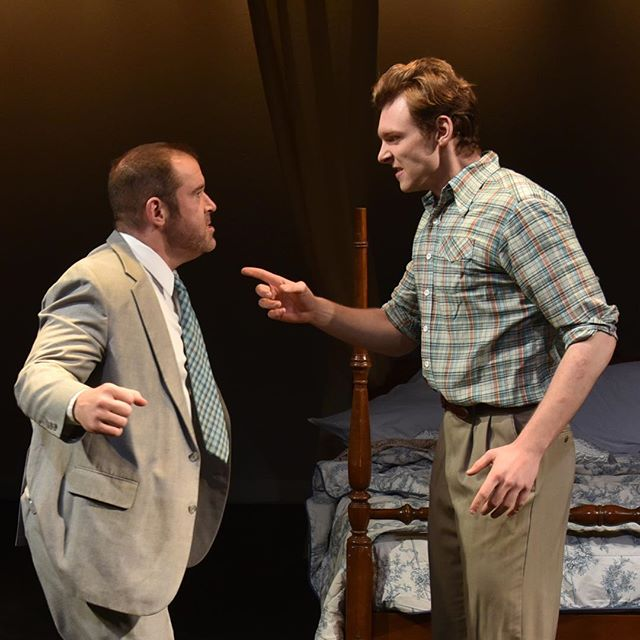 Baritone, Garrett Obrycki, as Bill and Erik Angerhofer as Roger Clinton in the world premiere of Bon