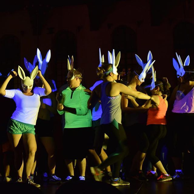 PRODUCTION PHOTOS ARE IN! The bunny chorus in DON GIOVANNI #oidong #dongiovanni #operaithaca