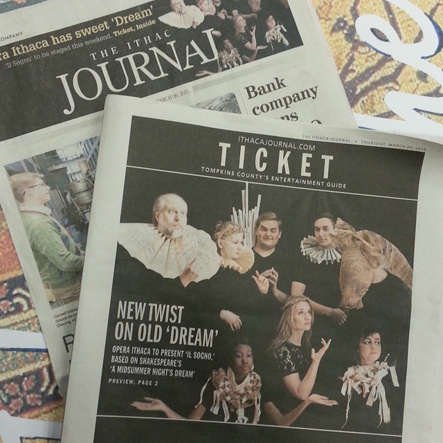 #IlSogno #TheDreamOpera makes the front page of the #IthacaJournal!