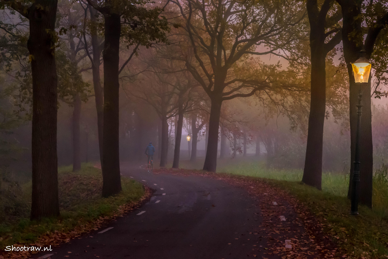 Heusden-fietser in de mist