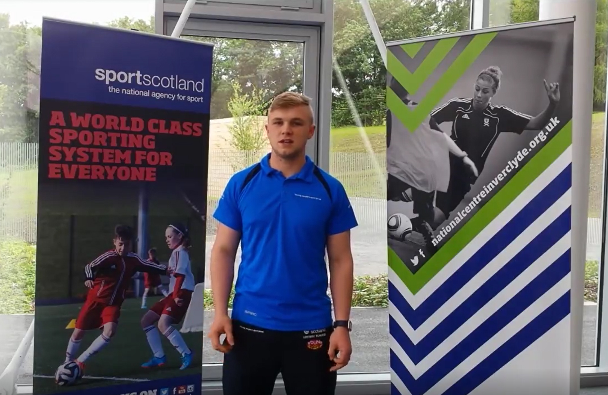Bodie in Sportscotland video still