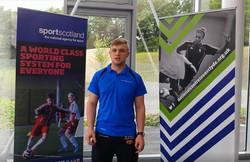 Bodie in Sportscotland video still