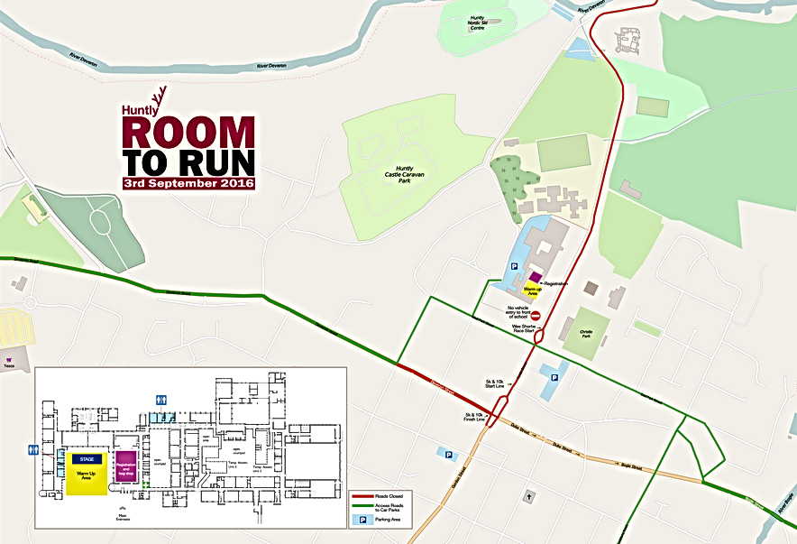Room to Run site map