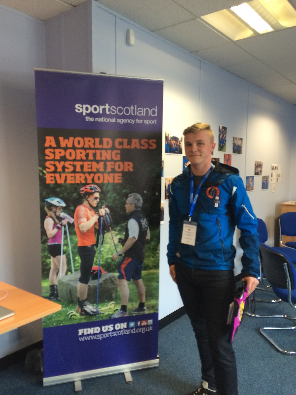 It was great to see my sport on display at the SportScotland headquaters in Edinburgh - it made it much easier to explain to other candidates