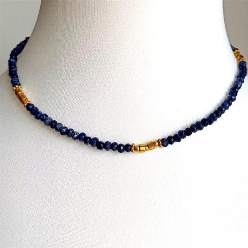 Navy choker style necklace - by I am Jai