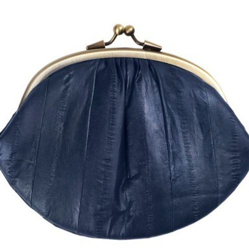 Eel skin purse by Becksondergaard - Navy
