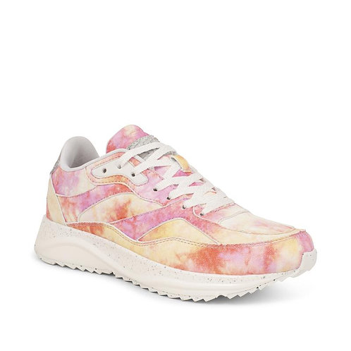 Sophie Leather Splash in soft Pinks Trainers by Woden