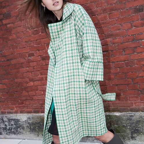 Coat in Green Checks