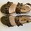 Thumbnail: Leather Frill Sandal Khaki by Angulus