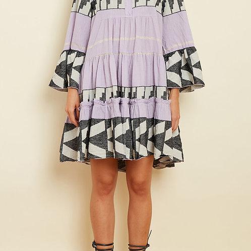 Zakar Greek Lilac embroidered Dress
