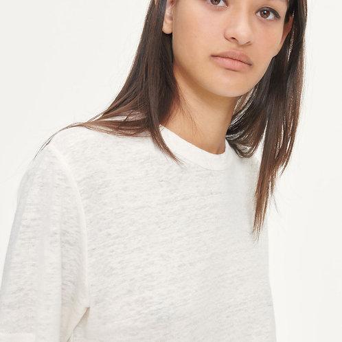 Doretta T-shirt  in Eggnogg by Samsoe Samsoe