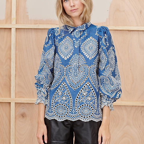 Think Blouse in Blue by Munthe