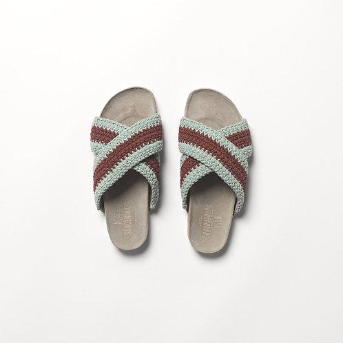 Yvonne Crochet Sandal in Mint by Becksondergaard