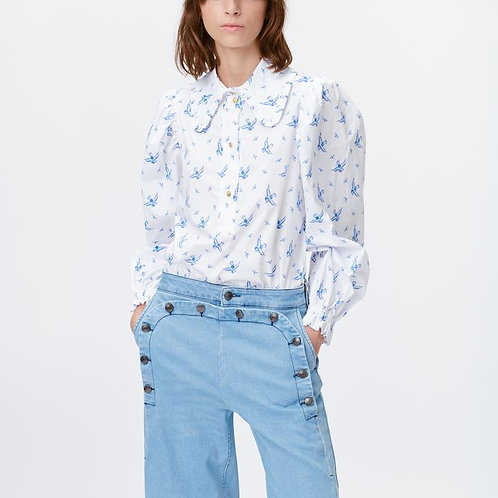 Tosca Blue Blouse by Munthe