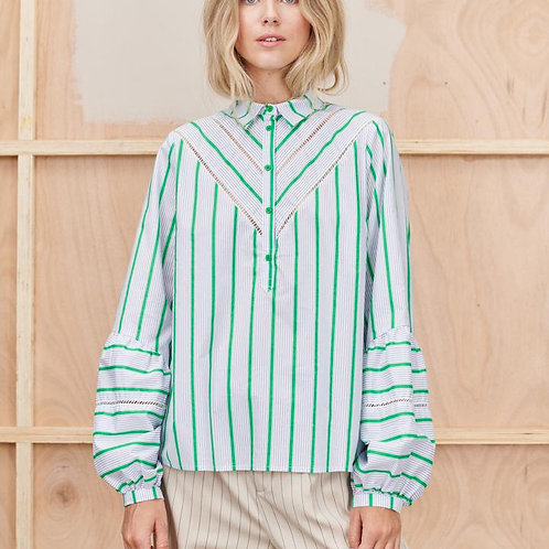 Tabor Green Blouse by Munthe