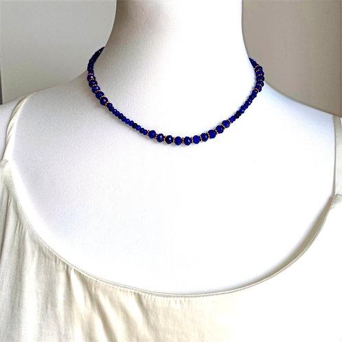 Cobalt blue semi-precious stone necklace - by I am Jai