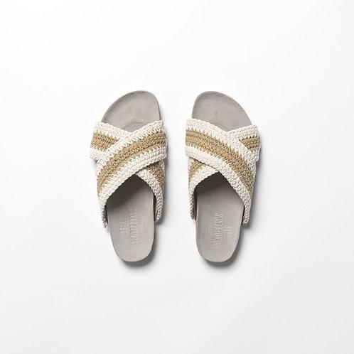 Yvonne Crochet Sandal in White by Becksondergaard