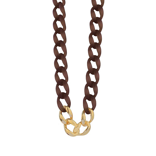 Quiver Brown long necklace - by Dansk
