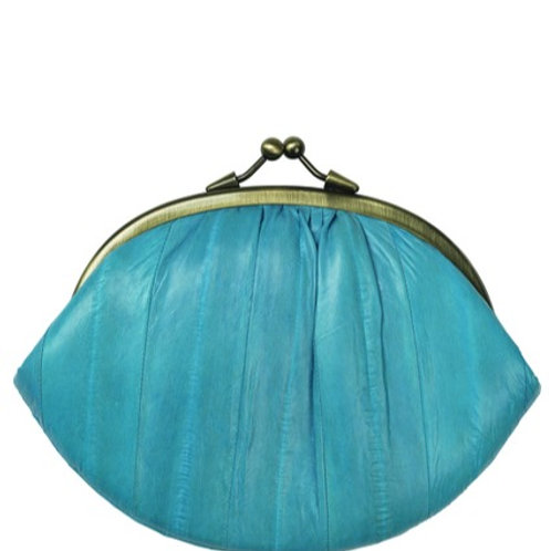 Eel skin purse by Becksondergaard -Teal