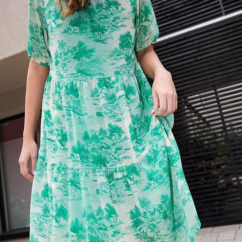 Dress in Wallpaper Print