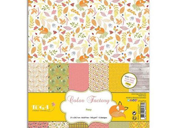 """36 feuilles de papier Color Factory """" Automne"""" A4 - PPK043 - Toga"""